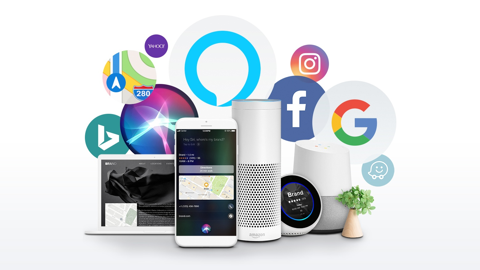 Icons of social media and smart devices