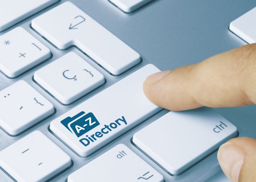 A-Z directory button on keyboard